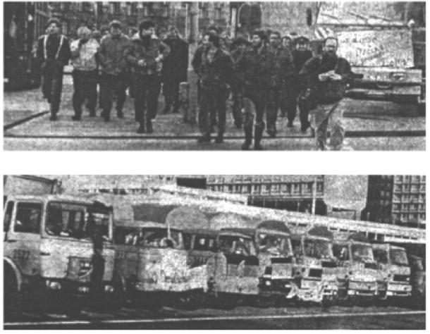 Warnstreik der Berliner Müllabfuhr im Januar 1990, Q: Gehrke/Hürtgen 2001: 268.