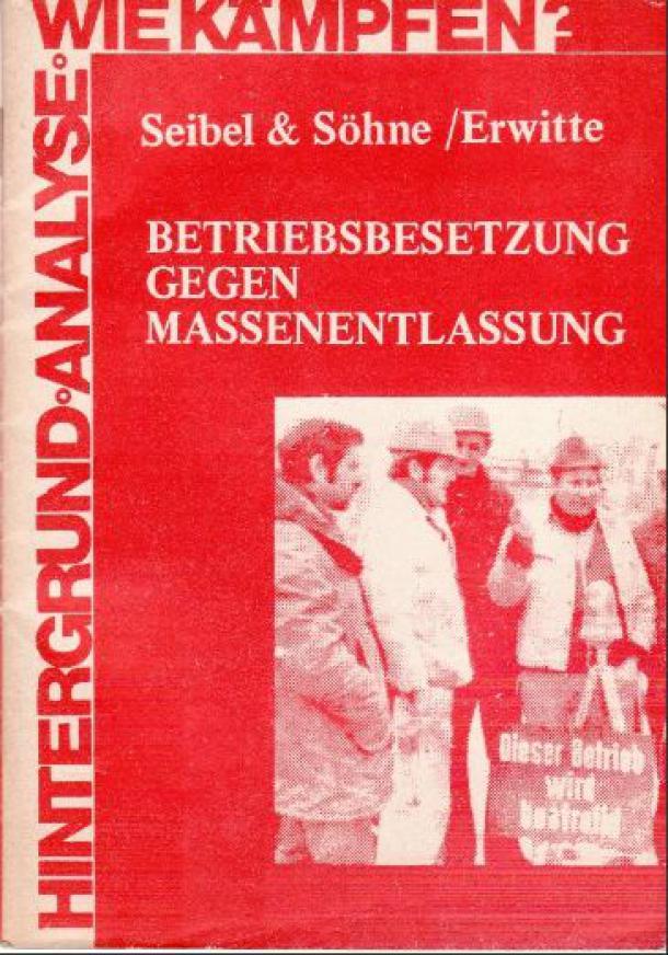 """Cover """"Betriebsbesetzung gegen Massenentlassungen"""""""