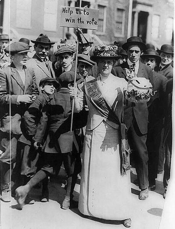 Suffragette in den USA, um 1914 (Quelle: Wikipedia)