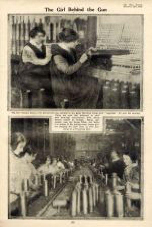 Frauen in der Munitionsindustrie - England 1915