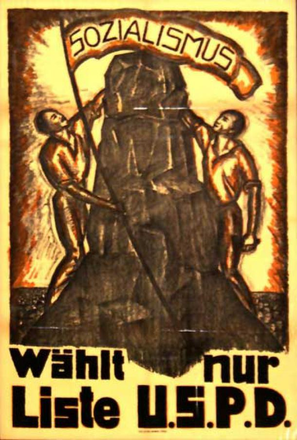 USPD-Wahlplakat Januar 1919 (Quelle: Wikipedia)