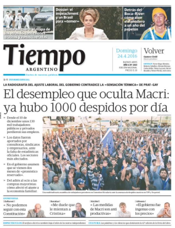 """Vuelve el diario """"Tiempo Argentino"""" como cooperativa obrera"""