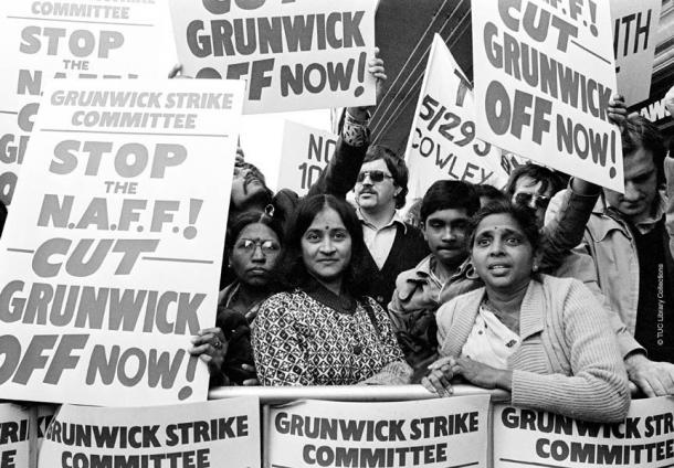 The strikers on the picket line TUC Library Collections